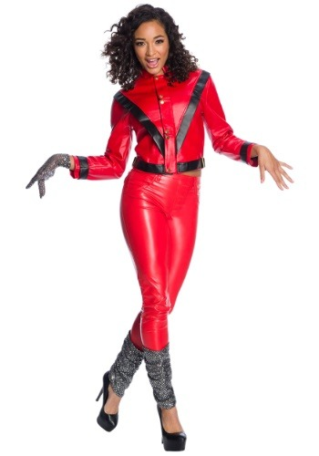 Click Here to buy Womens Michael Jackson Deluxe Costume from HalloweenCostumes, CDN Funds