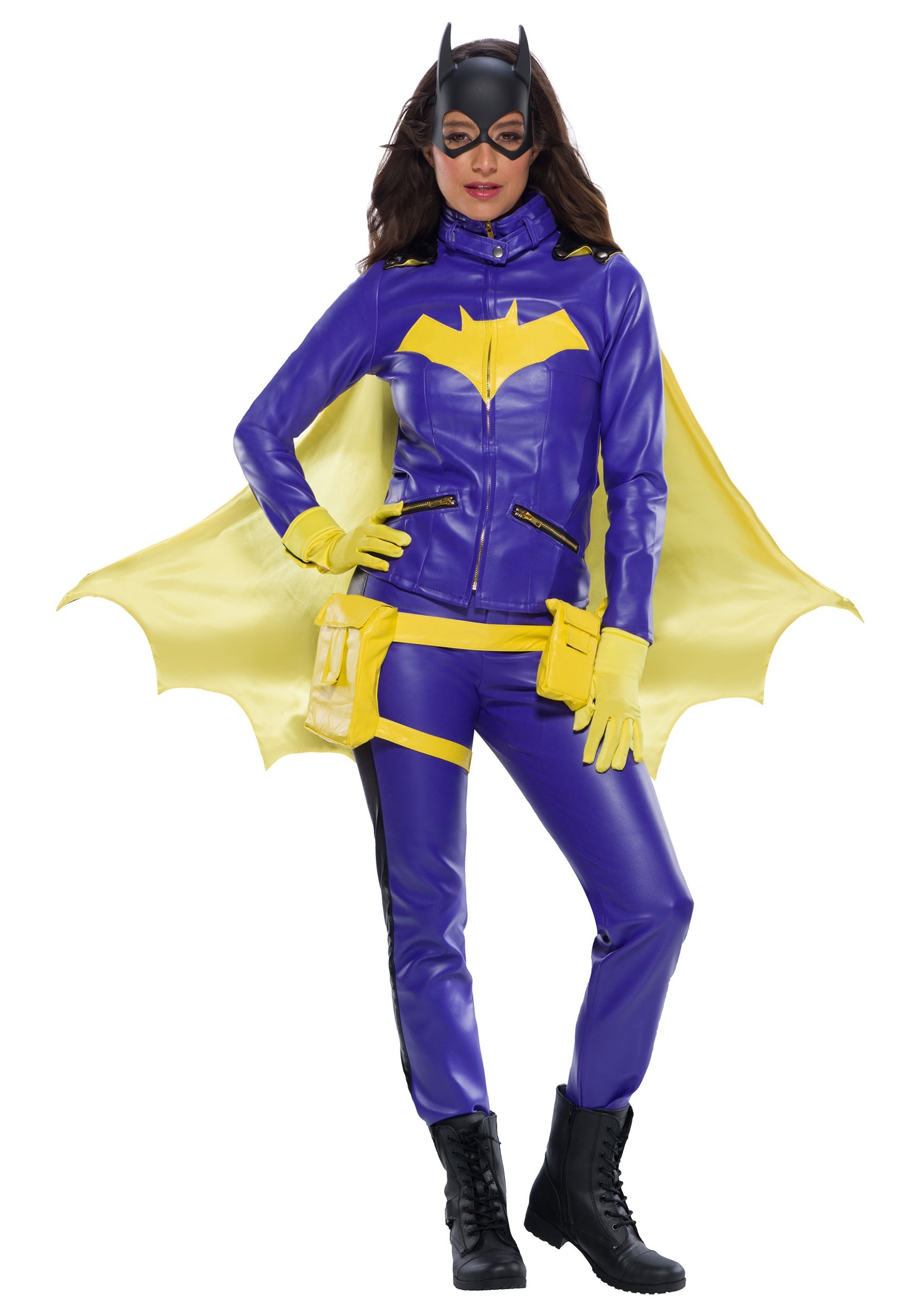 Batgirl Adult Costume Accessory Kit NEW Mask Gauntlets