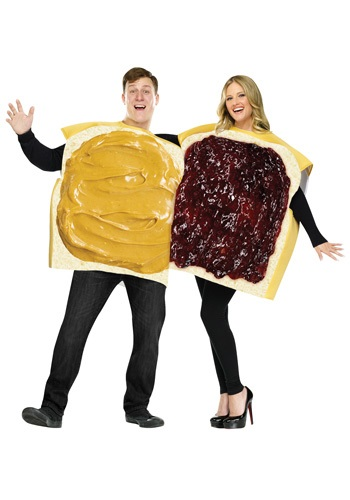 Click Here to buy Adult Peanut Butter and Jelly Costume from HalloweenCostumes, CDN Funds