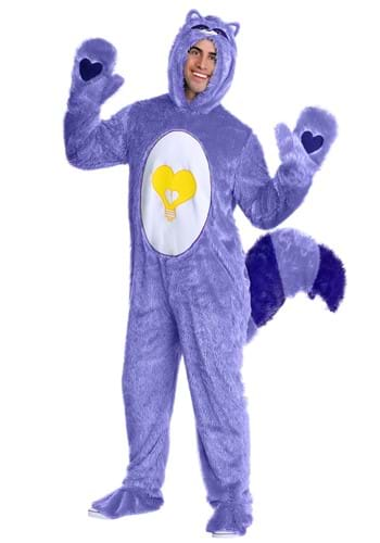 Care Bears & Cousins Adult Bright Heart Raccoon Costume – Size: XL – Polyester