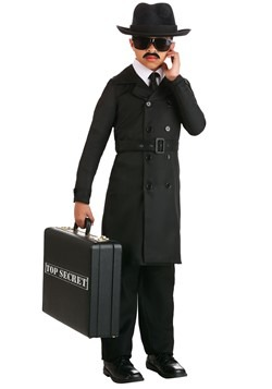 Secret Agent Man Costume Kid's