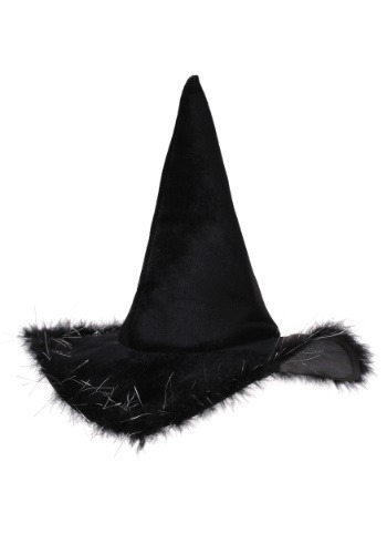Adult Velvet Witch Hat With Fur3