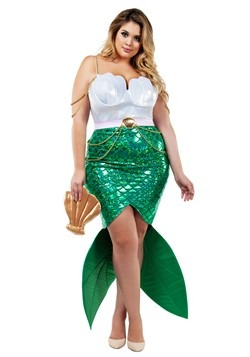 Women's Plus Size Alluring Sea Siren Mermaid Costume Update