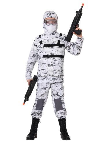 Boy's Winter Camo Soldier Costume