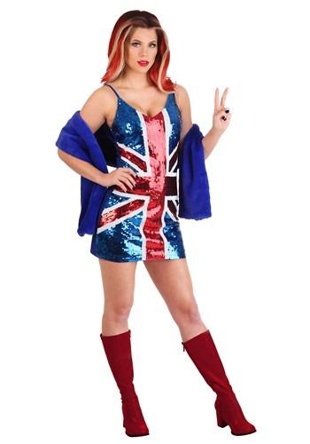 British Girl Power Popstar Costume Womens