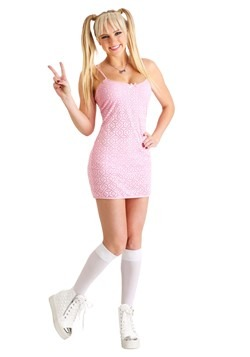 Womens Sweet Girl Power Popstar Costume