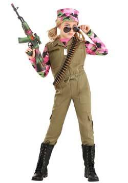 Pink Camo Army Girl's  Costume