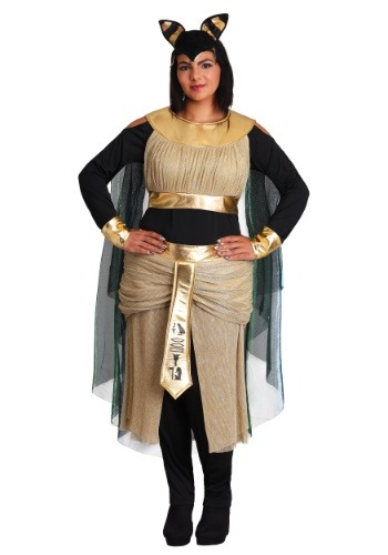 Click Here to buy Womens Bastet Goddess Plus Size Costume from HalloweenCostumes, CDN Funds