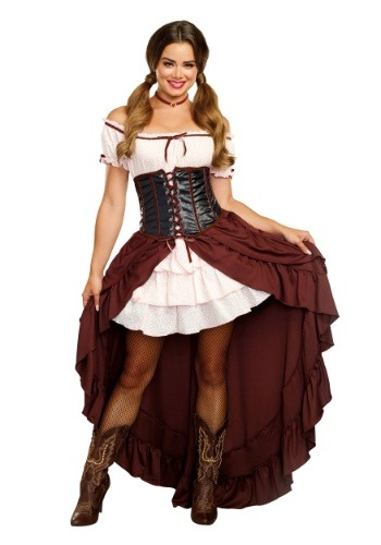 Click Here to buy Saloon Gal Womens Costume from HalloweenCostumes, CDN Funds