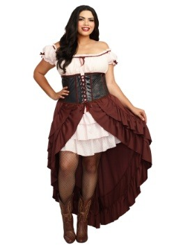 Saloon Girl Women's Plus Size Costume