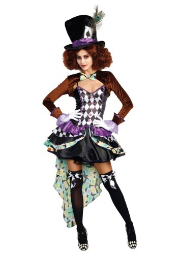 Click Here to buy Raving Mad Hatter Womens Costume from HalloweenCostumes, CDN Funds