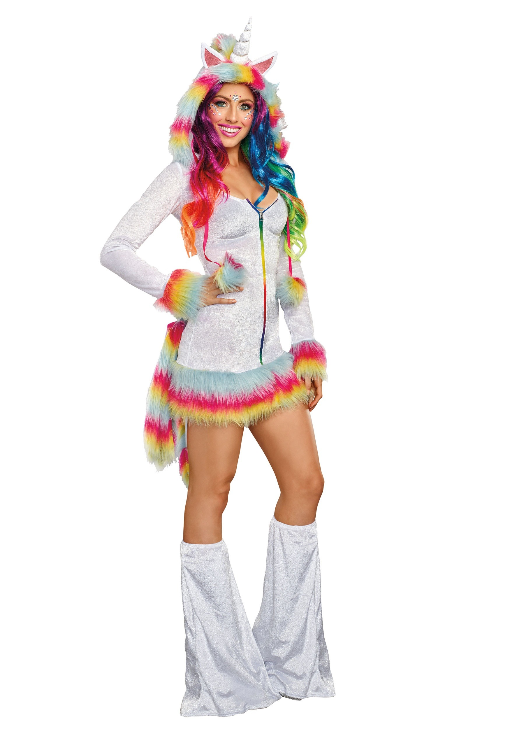 Unicorn Womens Adult Mythical Creature Halloween Costume Hood