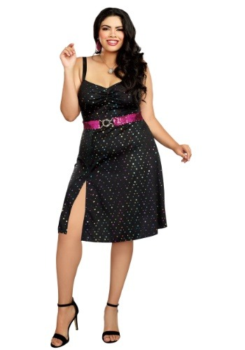Click Here to buy Disco Diva Plus Size Womens Costume 1X 2X 3X from HalloweenCostumes, CDN Funds