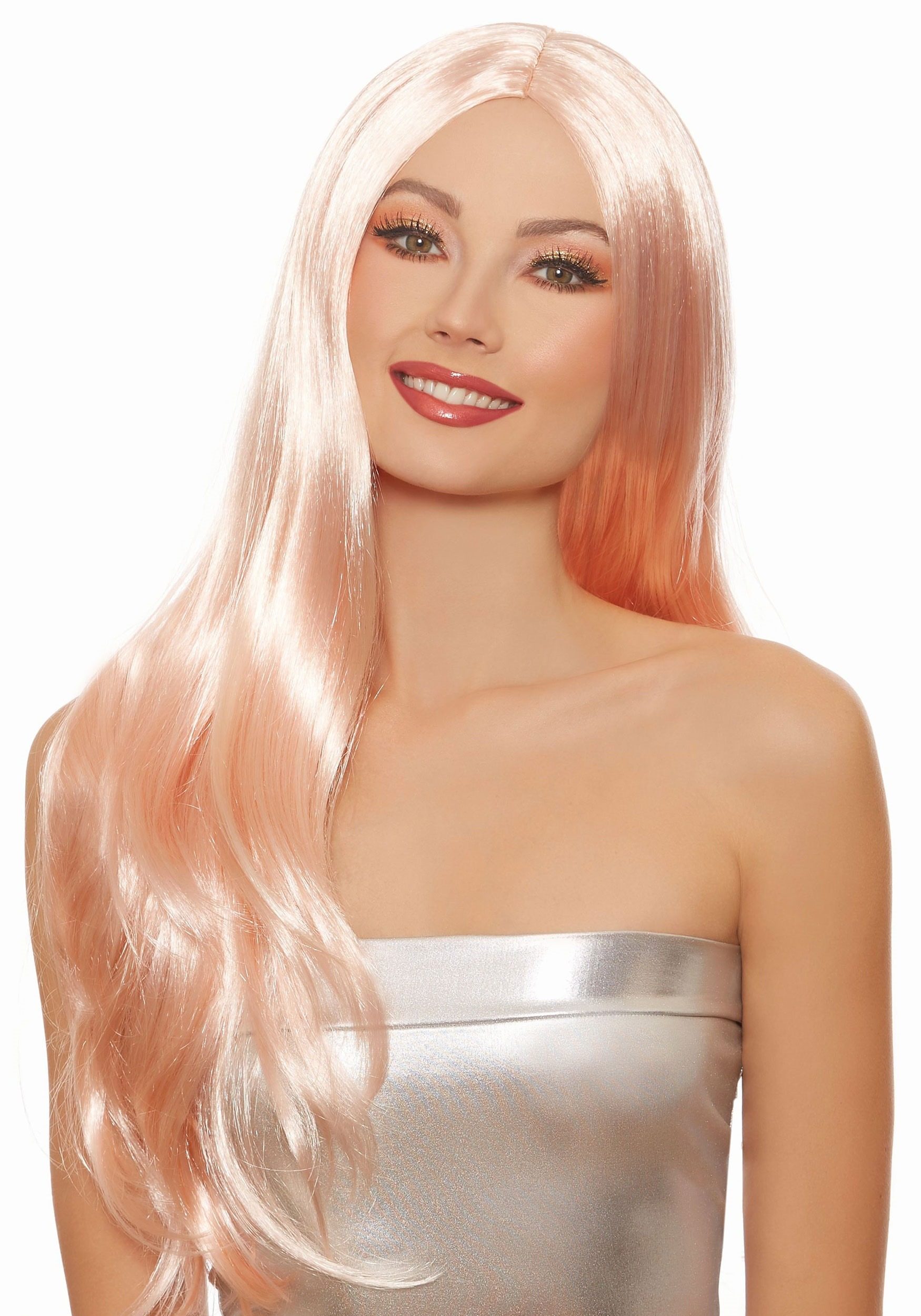 Long Straight Women s Rose Gold Wig 27e2638e04