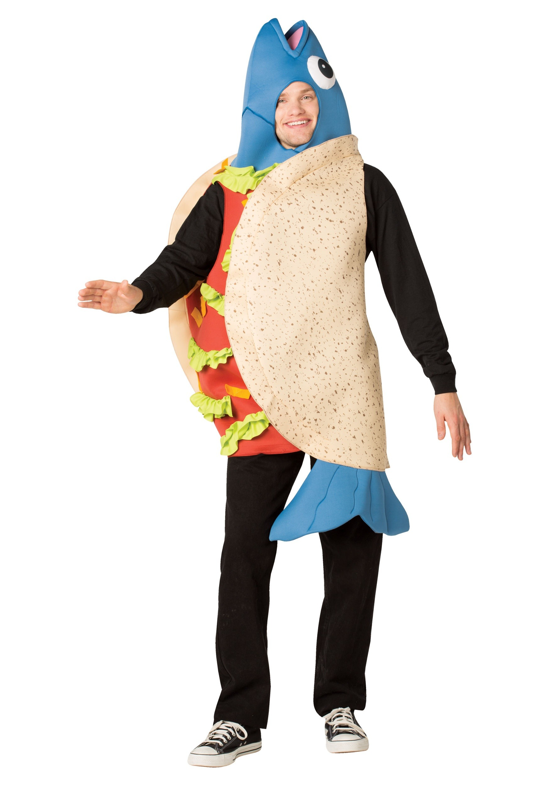 Fish taco costume for adults for Sexy fish costume