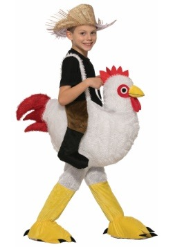 Ride a Chicken Kids Costume