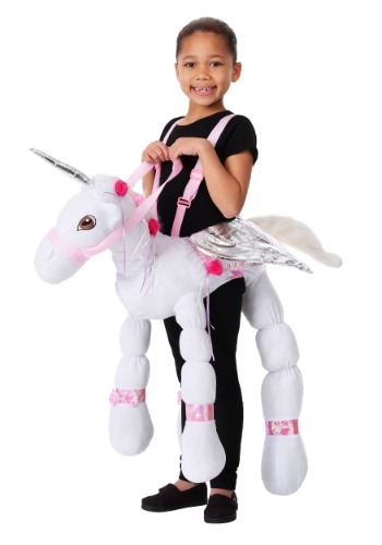 Kids Ride a Unicorn Costume1