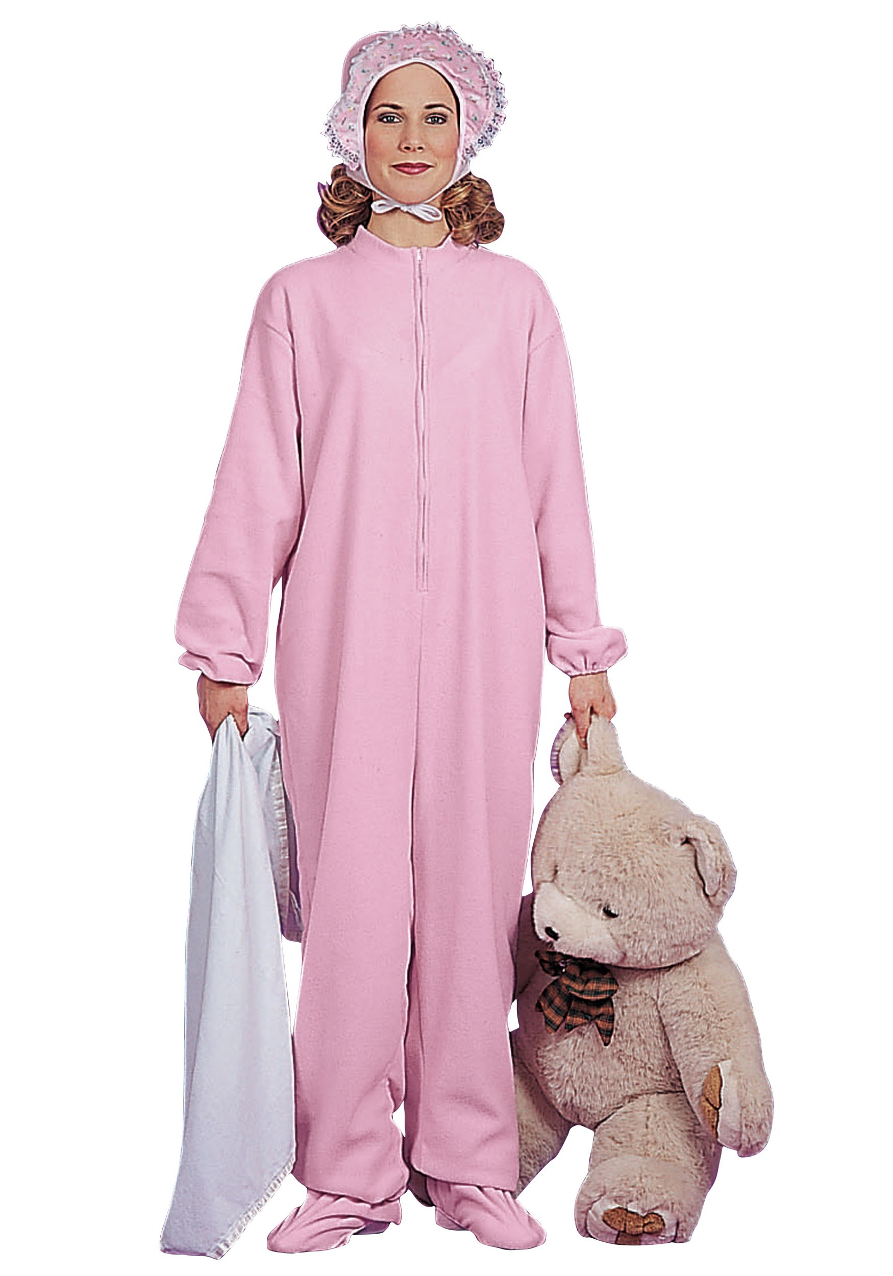 Pink Adult Baby Pajamas Costume for Women f19d2f993145