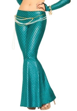 Womens Blue Mermaid Leggings2