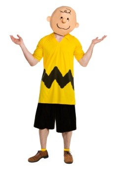 deluxe charlie brown mens costume
