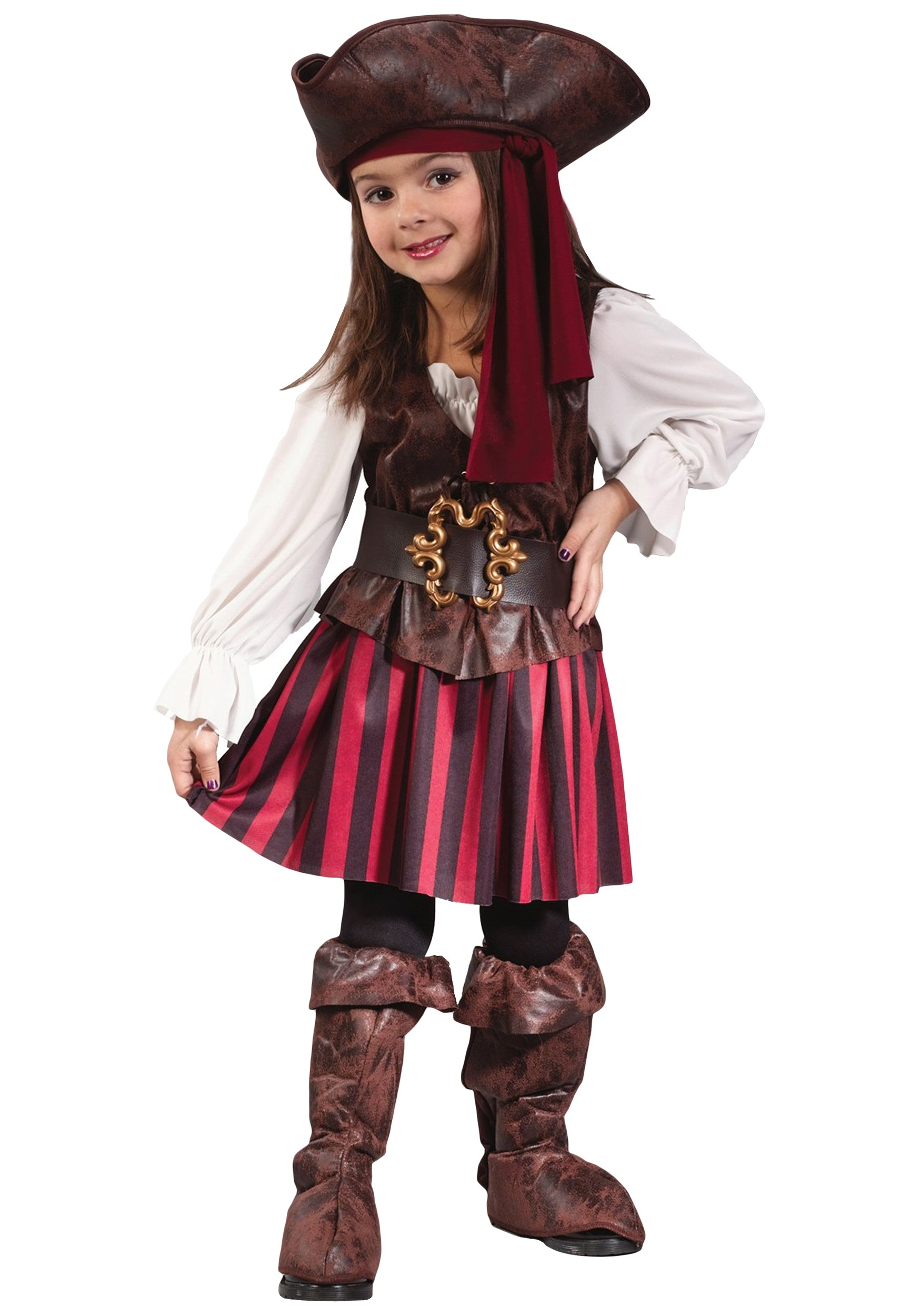 Caribbean toddler pirate girl costume for Cool halloween costumes for kids girls