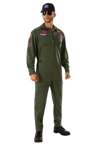 Plus Size Top Gun Jumpsuit Men's Costume-update1