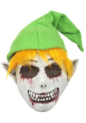 Click Here to buy Ghostly Video Game Elf Mask for Adults from HalloweenCostumes, CDN Funds