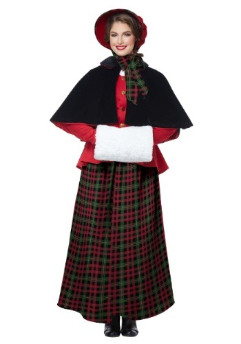 Womens Holiday Caroler Costume