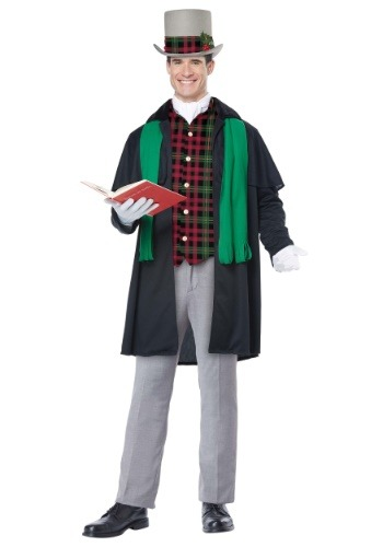 Mens Holiday Caroler Costume