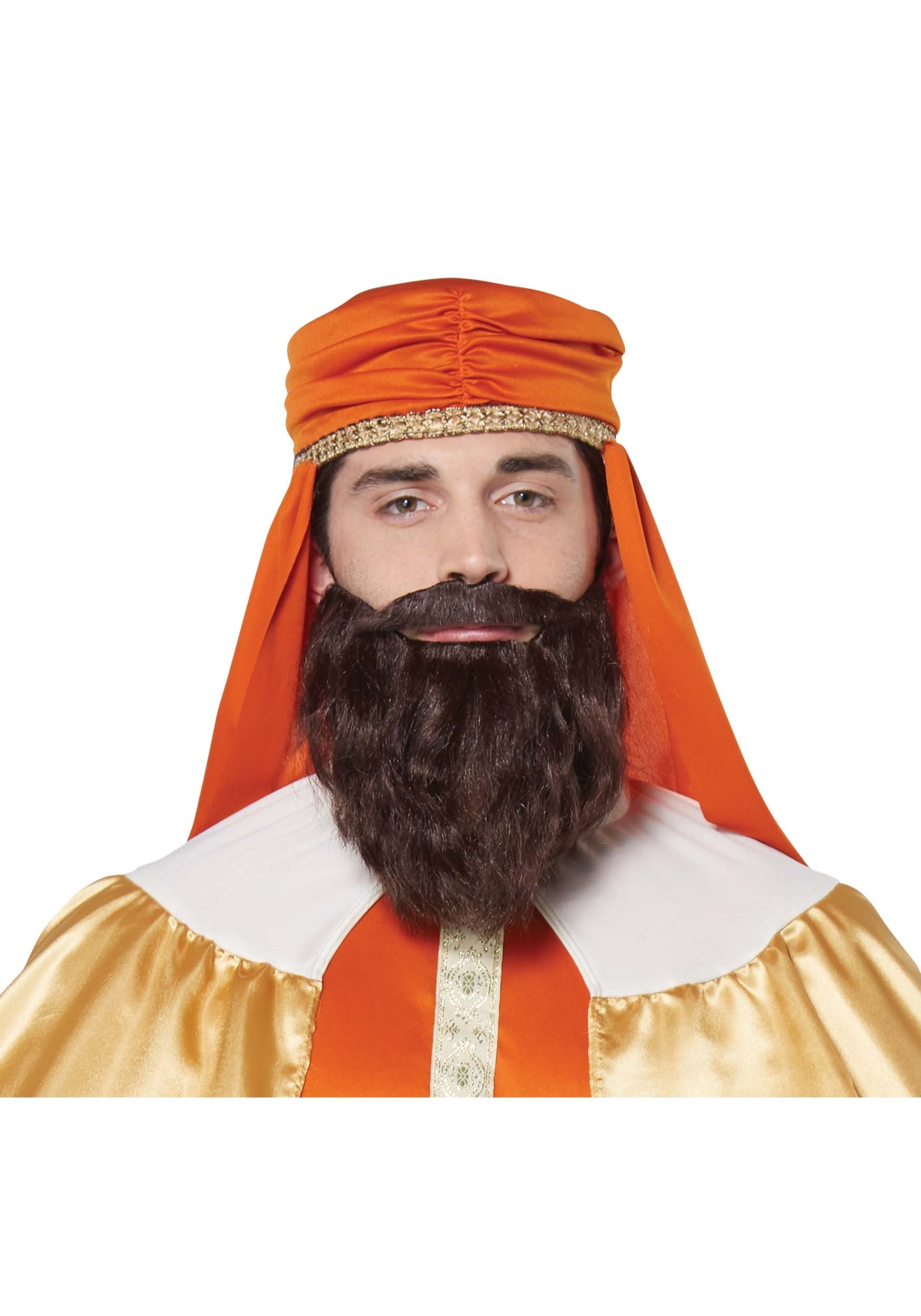 Wise Man Brown Wig and Beard for Men CA70920