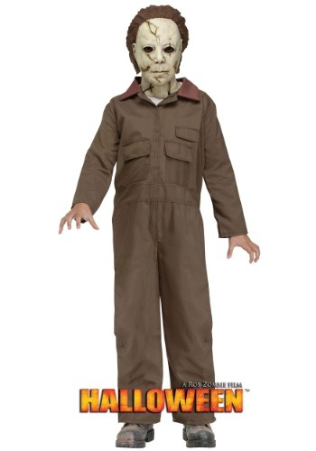 Click Here to buy Rob Zombie Halloween Michael Myers Kids Costume from HalloweenCostumes, USA Funds & Shipping