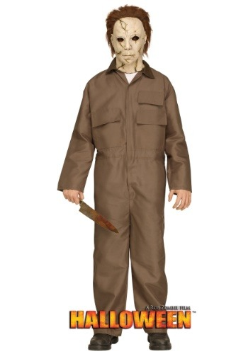 Click Here to buy Rob Zombie Halloween Michael Myers Costume for Teens from HalloweenCostumes, USA Funds & Shipping