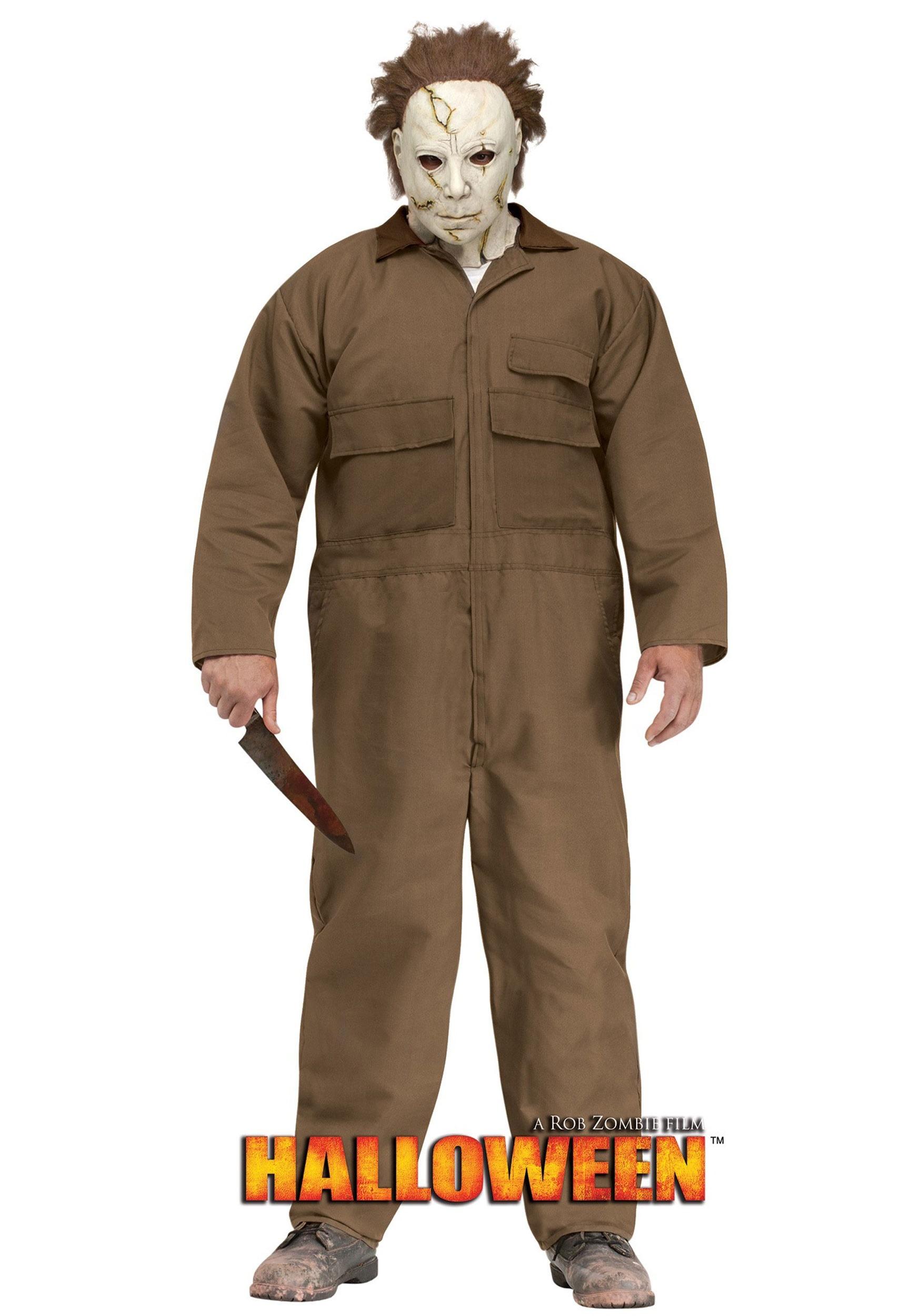 Halloween Michael Myers Costume.Rob Zombie Halloween Michael Myers Men S Plus Size Costume