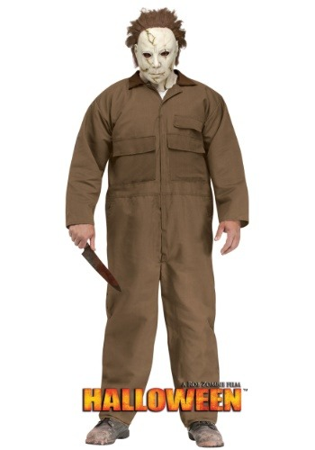 Click Here to buy Rob Zombie Halloween Michael Myers Plus Size Mens Costume from HalloweenCostumes, USA Funds & Shipping