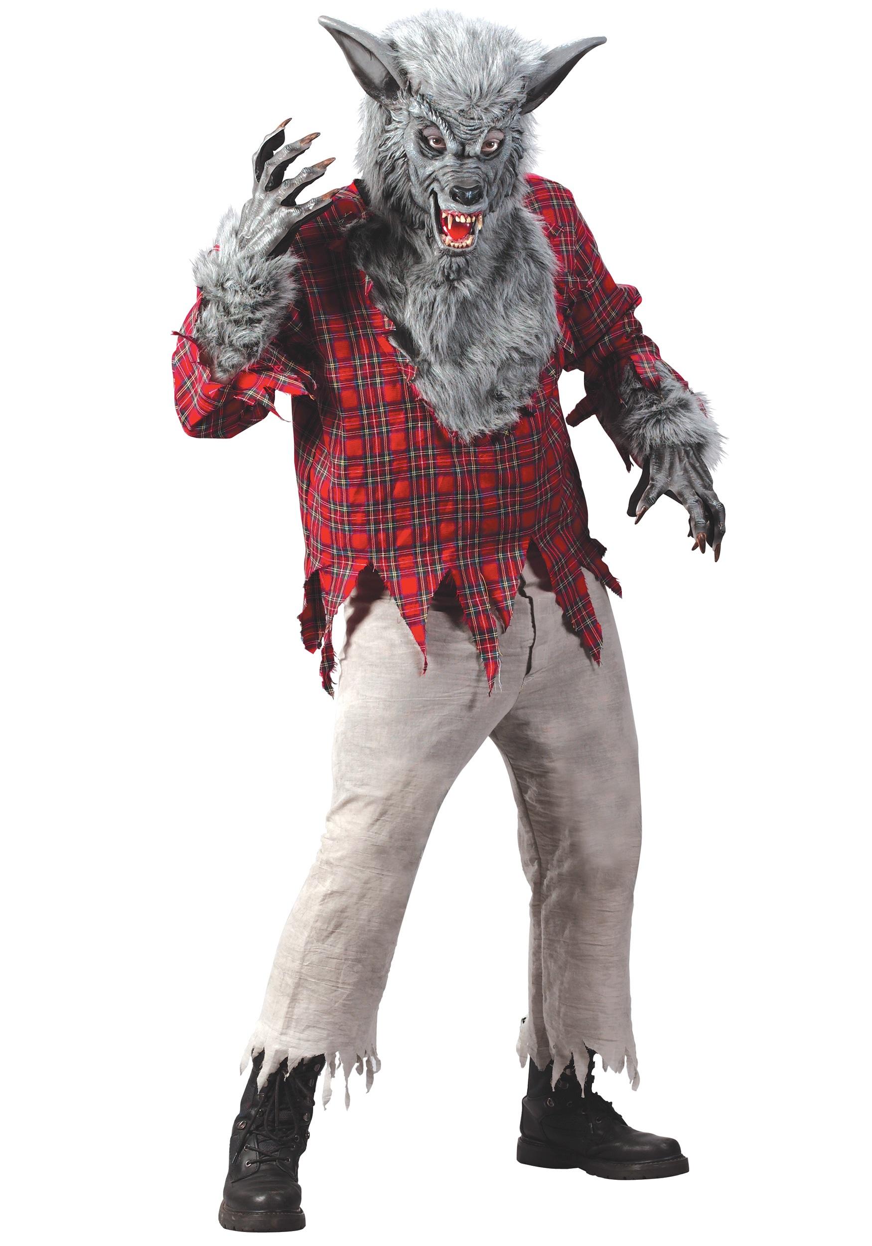 Wolf costumes adult kids wolf costume werewolf costumes silver werewolf costume solutioingenieria Choice Image