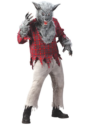 Click Here to buy Silver Werewolf Costume from HalloweenCostumes, USA Funds & Shipping