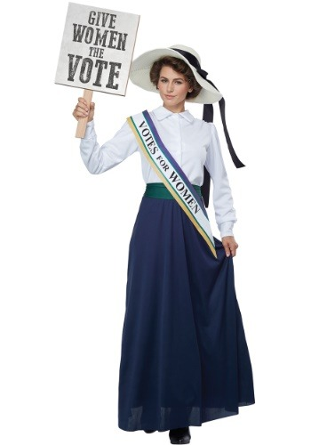 Women's 1920s Suffragette Costume