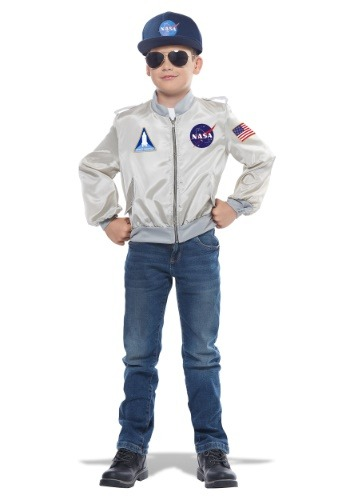 INOpets.com Anything for Pets Parents & Their Pets NASA Flight Jacket Costume for Children