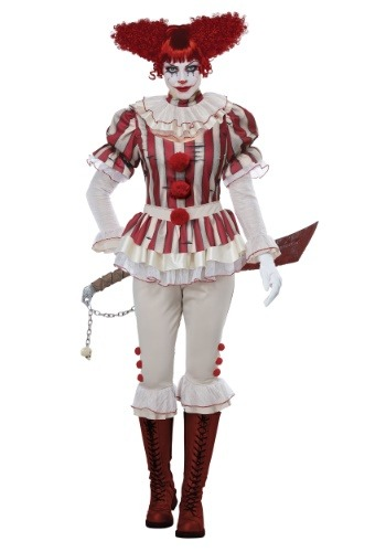 Click Here to buy Womens Sadistic Clown Costume from HalloweenCostumes, CDN Funds