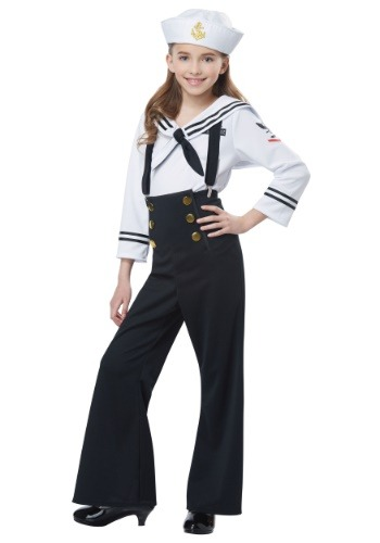 Click Here to buy Sailor Girl Girls Costume from HalloweenCostumes, CDN Funds