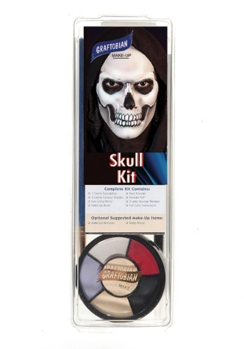 Click Here to buy Deluxe Skeleton Face Makeup Kit from HalloweenCostumes, USA Funds & Shipping