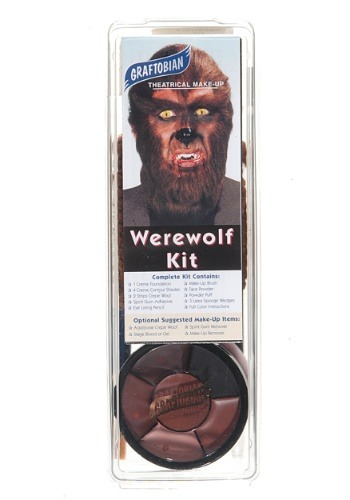 Click Here to buy Deluxe Werewolf Face Makeup Kit from HalloweenCostumes, USA Funds & Shipping