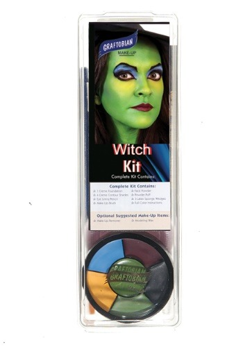 Click Here to buy Deluxe Witch Face Makeup Kit from HalloweenCostumes, USA Funds & Shipping