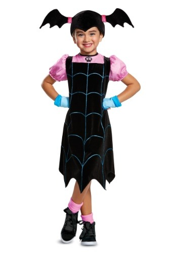 Click Here to buy Disney Vampirina Classic Girls Costume from HalloweenCostumes, USA Funds & Shipping