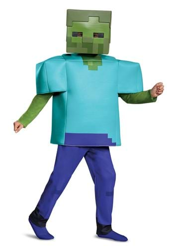 Click Here to buy Minecraft Deluxe Kids Zombie Costume from HalloweenCostumes, CDN Funds