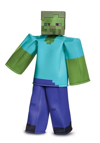 Click Here to buy Minecraft Prestige Zombie Costume from HalloweenCostumes, CDN Funds