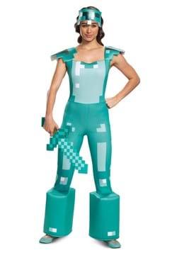 Female Minecraft Adult Armor Costume main1