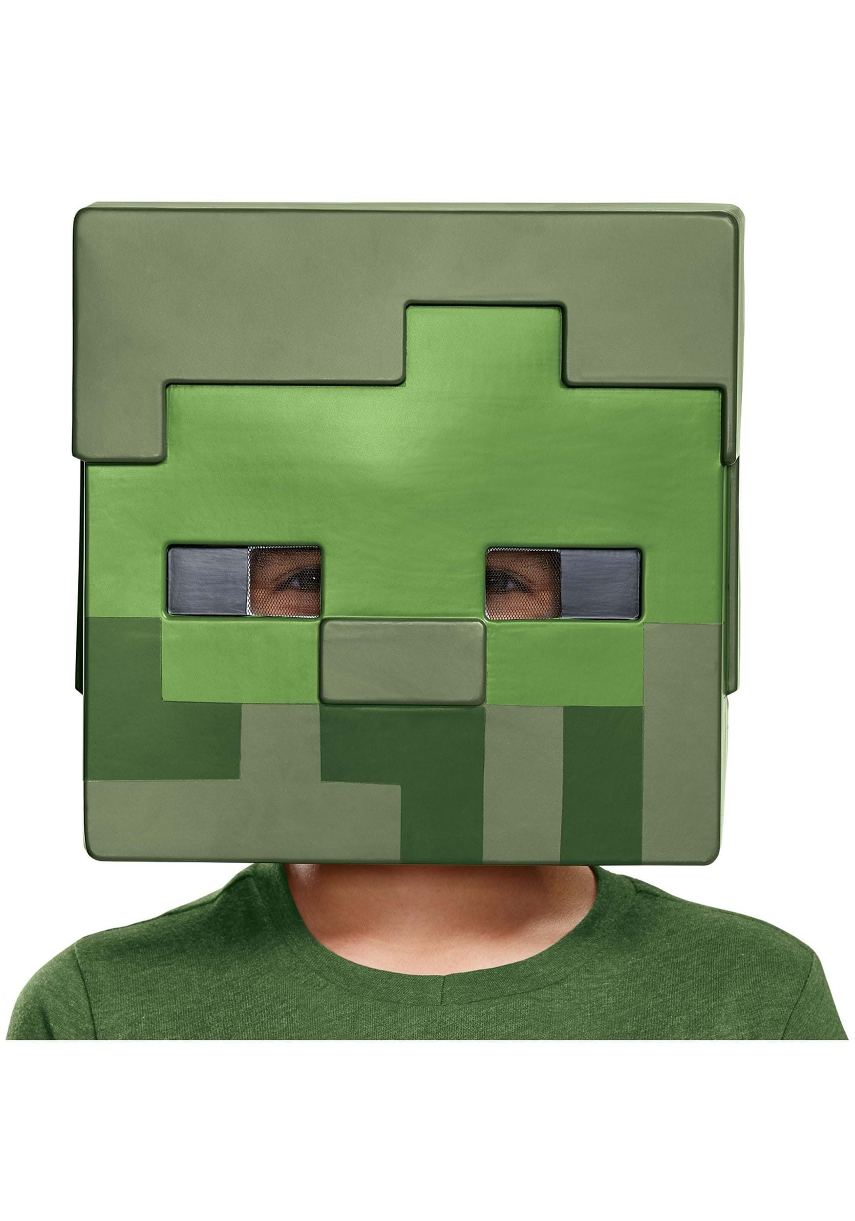 Minecraft Zombie Half Mask on