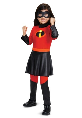 Click Here to buy Disney Incredibles 2: Deluxe Violet Toddlers Jumpsuit Costume from HalloweenCostumes, CDN Funds