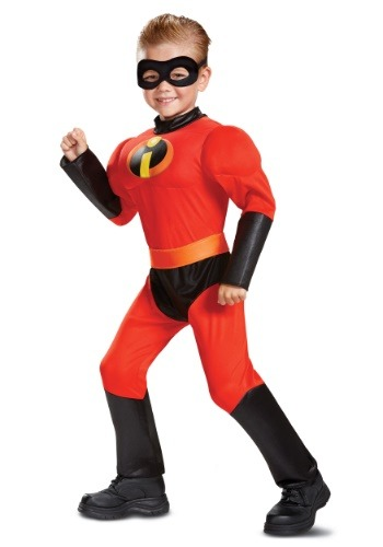 Click Here to buy Disney Incredibles 2 Classic Dash Muscle Costume for Toddlers from HalloweenCostumes, CDN Funds